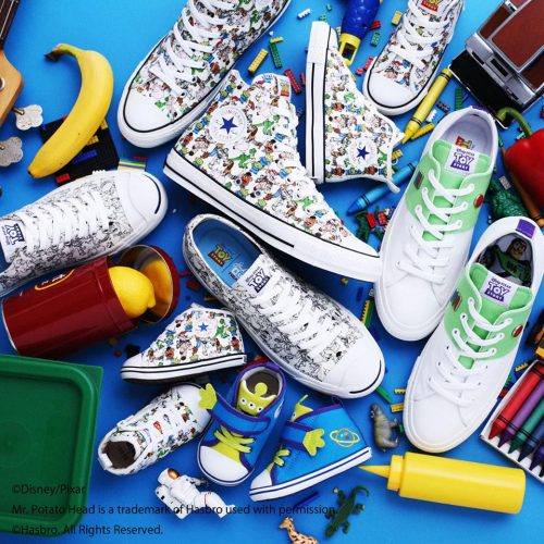 025813d03c Now you can pass the fun to your kids with these limited edition Converse x  Toy Story shoe collection available for purchase on JP Rakuten.
