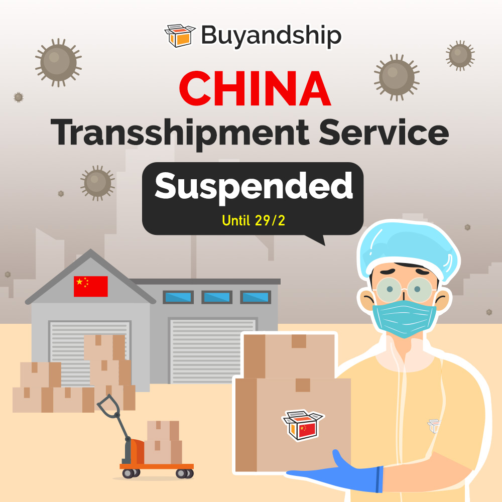 China Transshipment Service Suspended