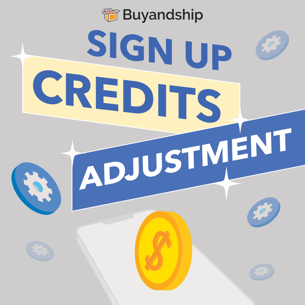 Sign Up credits adjustment