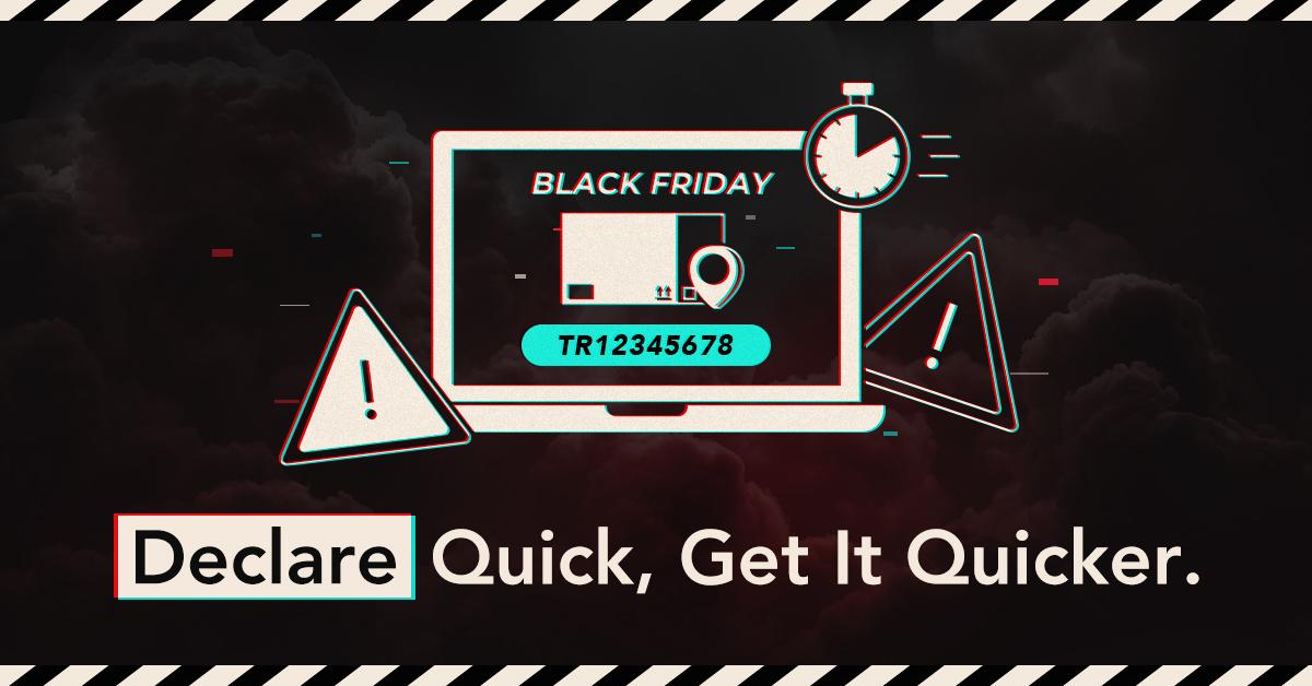 预先申报-货件-black-friday-网购