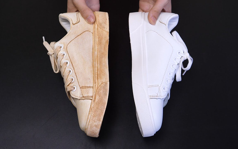 鞋子-發黃-清潔